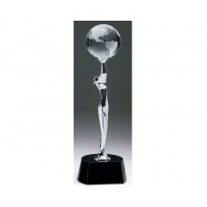 Global Celebration' Chrome Figure - Crystal Globe