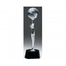 Global Celebration' Chrome Figure - Crystal Globe