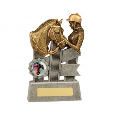 Horse 'Silver Ribbon Series' Resin Trophy