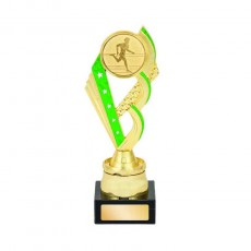 Athletics / Track Green Column Trophy