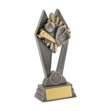 Baseball / Softball Peak Motif Trophy Silver/Gold