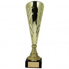 Gold Shooting Star Metal Presentation Cup on Base