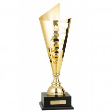 Gold Deco Metal Presentation Cup on Base