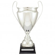 Silver Prestige Metal Presentation Cup on Base