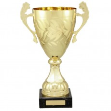 Gold Metal Presentation Cup on Base