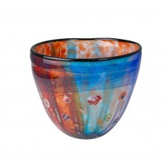 Coloured Glass Bowl, Olsen, Multi