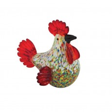 Coloured Glass Chook Colourful