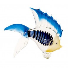 Coloured Glass Fish, Fin Blue
