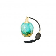 Coloured Glass Perfume Bottle Green Atomiser