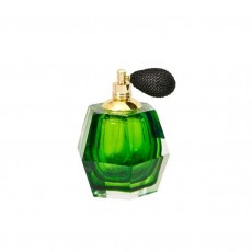 Coloured Glass Perfume Bottle Emerald Atomiser