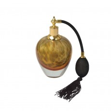 Coloured Glass Perfume Bottle Amber Atomiser