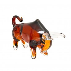 Coloured Glass Bull