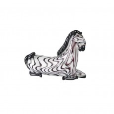 Coloured Glass Animal Zebra