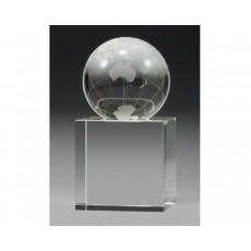 Optical Crystal World Globe on Base