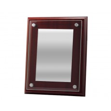 Glass Front & Chrome Trim Plaque