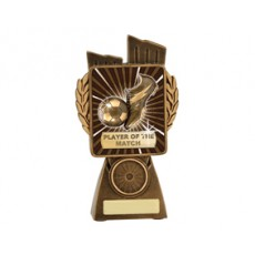 Football / Soccer 'Lynx' Player of the Match Resin Trophy