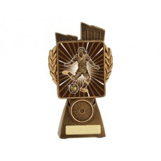 Football / Soccer 'Female Lynx' Resin Trophy