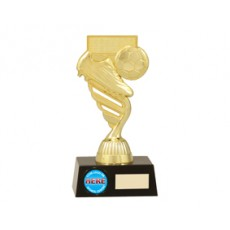 Football / Soccer 'Boot & Ball' Resin Trophy