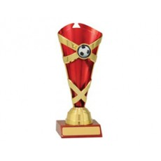 Football / Soccer 'Spectrum Cups' Trophy (Red)