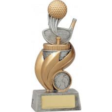Golf Flame Riser Trophy inc button