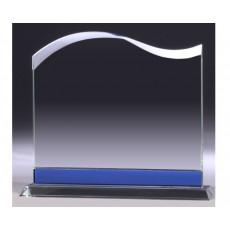 Clear & Blue Glass Landscape Glass