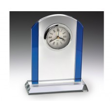 Clear & Blue Renaissance Glass Clock