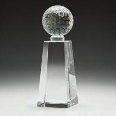 Golf Crystal Pedestal Award