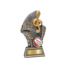 Small 'Music' Gold/Silver Resin Trophy