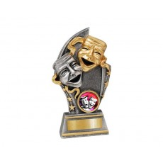 Small 'Drama' Gold/Silver Resin Trophy