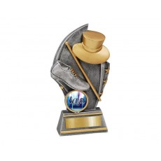 Tap' Gold/Silver Resin Trophy