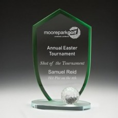 Golf Club Champion Glass Award