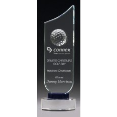 Golf Crystal Award, Blue Trim