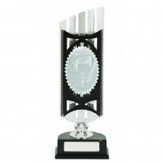Hockey Silver/Gold Holder Trophy on Black Base
