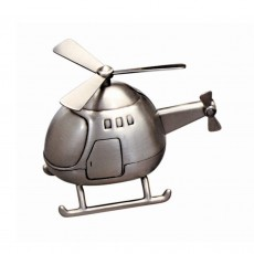 Money Bank, Pewter Finish Helicopter
