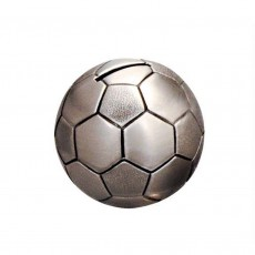 Money Bank, Pewter Finish Soccer Ball