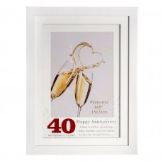 40th Anniversary Photo Frame, 6x8""
