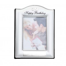 30th Birthday Two Toned Silver Photo Album