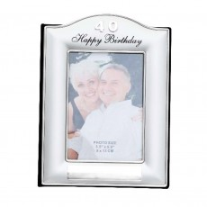 40th Birthday Two Toned Silver Photo Album
