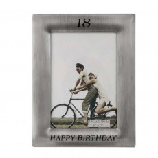 18th Birthday Frame Pewter Finish 5x7""