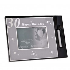 30th Birthday Signature Celebration Photo Frame, 6x4""