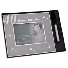 40th Birthday Signature Celebration Photo Frame, 6x4""
