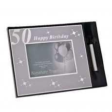50th Birthday Signature Celebration Photo Frame 6x4""