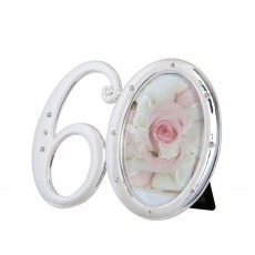 Number 60 Photo Frame with Diamontes