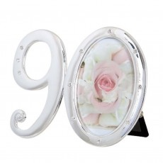 Number 90 Photo Frame with Diamontes