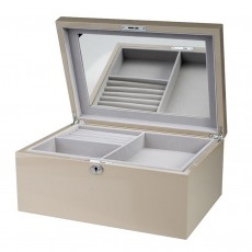 Jewellery Box, Melania, Taupe