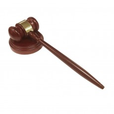 Executive Wooden Gavel and Block