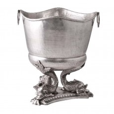 Pewter Finish 'Fish Stand' Ice Bucket