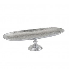 Polished Aluminium Footed Platter 66cm