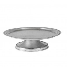 Aluminium Hammered/Beaten Metal Cake Stand