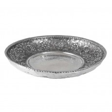 Aluminium Round Platter Hammered